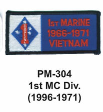 """3""""  1ST MC DIV.(1996-1971) Embroidered Military Patch"""