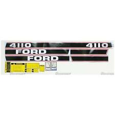 Ford 4110 Tractor Complete Decal Set Black/Red Stripe Force II '86-up
