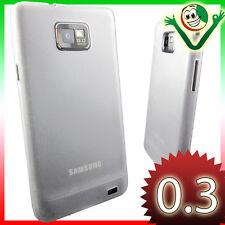 Custodia ultra sottile 0,3mm per Samsung Galaxy SII plus i9105 S2 bianca Traspar