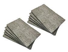 10 Mauerplatten  für H0/TT - regelmäßige Quaderstruktur