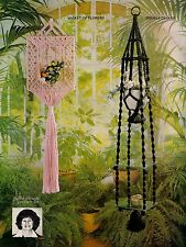 Plant Hanger w/ 2 shelves & More #AW1 Macrame Award Winning Designs