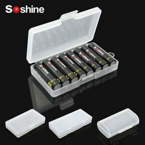 Soshine Hard Plastic Battery Storage Box for AA AAA Rechargeable Cells Travel C