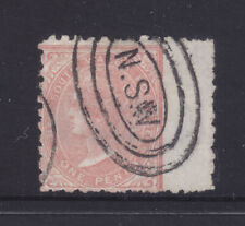 Nsw: 1d Salmon Qv Sg 222? perf 10 F.Used