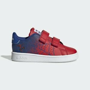ADIDAS EG7903 Spider Man Advantage I Infant Sneakers Baby Shoes Red