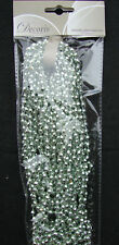 Pale Mint Green Beaded Garland Christmas Tree Decoration 270cm CLEARANCE SALE