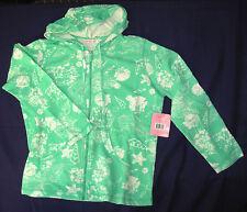 SUN BAY P L Hoodie Zippered Jacket Cotton Long Sleeve Turquoise sealife Petite L