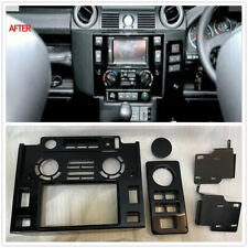 Double 2 Din Dash Nav Head Unit Fascia Panel Kit For Land Rover Defender 90 /110
