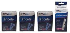 3x100 TRUEplus Diabetic Test Sterile Lancets 28 Gauge WITH FREE LANCETS DEVICE