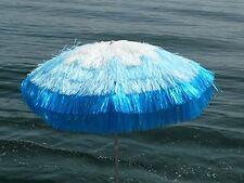 Maffei sombrilla Tulum blanco azul rafia d. 200 cm hecho en italia