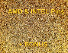 10+g Gold Plated CPU Pins For Gold Recovery AMD, Intel Pins Gold Scrap Recovery