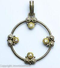 Judith Ripka Sterling Silver 18K Yellow Gold Diamond Pendant Enhancer