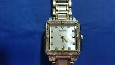 Bulova C637457 Two-Tone Diamond and Mother of Pearl Women's Watch