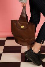 Vintage 2 Tone Brown Monogram Sac à dos sac bandoulière LIZ CLAIBORNE