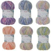 King Cole Caribbean Calypso DK Knitting Yarn 100g Acrylic Crimped Wool