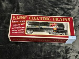 K-Line Electric Trains - O Scale - Tank Car Silver Chassis K90003 KCC