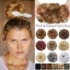 Messy Large Curly Bun Hair Piece Scrunchie Hair Extensions Real Natural as Human