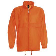 Mens Lightweight Kagoul Rain Coat Jacket Mac Kagool Cagoule Windproof S-3XL