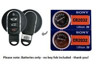 (2) Battery replacement for Mini Cooper remote key fobs CR2032