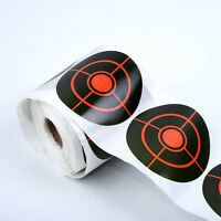 250pcs/Roll 3 Inch 7.5cm Adhesive Reactive Shooting Splatter Target Stickers