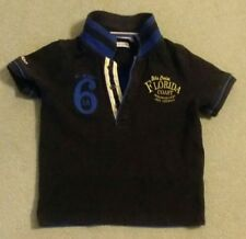 ☆ IKKS Blue and Black designer polo shirt 2T years lovely top Good condition