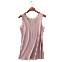 Fashion Sexy Summer Sleeveless Temperament T-shirt Vest Lace Camisole Tank Top U