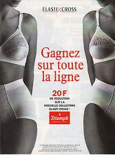 Publicité Print AD 1995  Lingerie TRIUMPH ELASTI CROSS soutien gorge slip