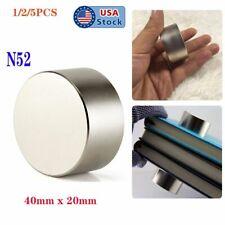 125pcs Round 40mm20mm Large Neodymium Rare Earth Magnet Big Super Strong Huge