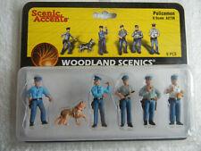 Woodland Scenics A2736 Policemen Scenic Accents O Scale NEW