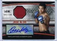 2010 UFC Knockout Jose Aldo Autograph Gear Relic 144/188