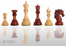 "The Novara Luxury Chess Set - Pieces Only - 4.4"" King - Blood Rosewood"