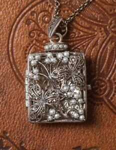 Victorian Trading Co Sterling Silver Secret Diary Locket Pendant 28K