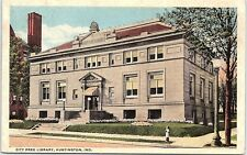 Postcard IN Huntington City Free Library Indiana