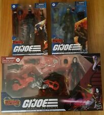 Gi Joe Classified Series - Cobra Trooper, BeachHead and Baroness with Coil Bike
