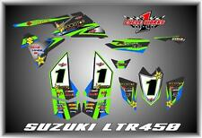 SUZUKI LTR 450 QUADRACER  SEMI CUSTOM GRAPHICS KIT CARBON