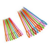 "1Set (20Pcs) 2 3/4"" , 3 3/4"" Multicolor Plastic Sewing Needles New Wanca WA"
