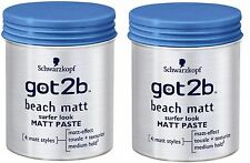 2x Schwarzkopf Got2b Beach Matt Paste Surfer Look 100ml