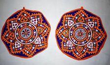 Bleu Orange Aiguille Miroir Travail Antique Patchs Vintage Hippie Craft Veste