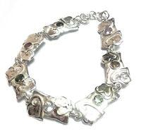 "Natural Multi Tourmaline Gemstone  925 Sterling Silver Bracelet 7-8"" SB-30"