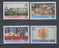 Anguilla 1978 Coronation Anniversary Coach Sc 315-18 Cplete Mint Never Hinged