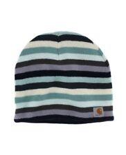 Carhartt Striped Knit Beanie - Deep Blue Womens Warm Winter Ski Hat