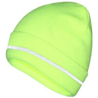 ProClimate Hi Vis Reflective Thinsulate Beanie Work Hat | Workwear Cap - Yellow