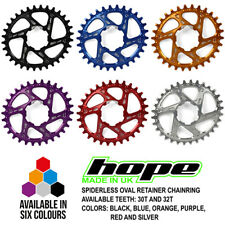 Hope Spiderless Oval Retainer Ring Chainring - 28T 30T 32T - All Colors - New