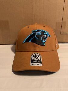 Carolina Panthers NFL '47 Brand Carhartt Mens Brown MVP Adjustable Hat