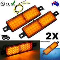 AU 2x LED Front Park amber Indicator & DRL Lights For ARB & TJM Bullbar 10-30V