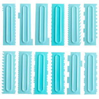 3Pcs Cake Decor Comb Icing Smoother Scraper Pastry Baking DIY Kitchen Tool w5T