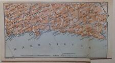 Stampa antica Mappa Liguria Levante La Spezia Cinque Terre Chiavari Recco 1899