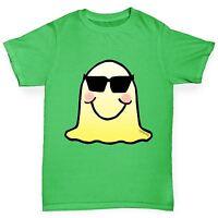 Twisted Envy Boy's Sunglasses Emoji Monster Premium Cotton T-Shirt