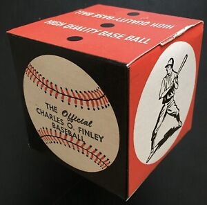 Charles Finley Orange Baseball Official Prototype, Oakland Athletics, Circa 1973