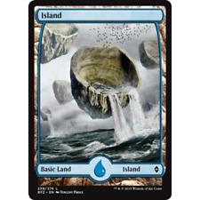 MTG BATTLE FOR ZENDIKAR * Island (#258) (Extended Art) (foil)