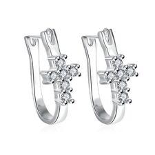 beautiful Fashion Silver Cute women Crystal Earring wedding jewelry girl nice